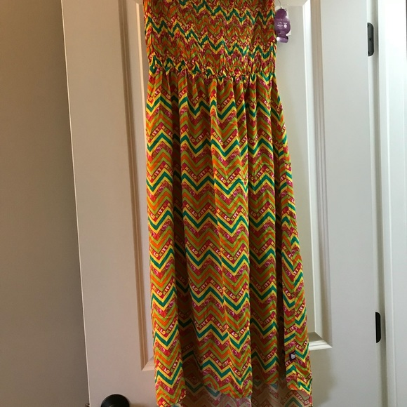 c44bdcef7 Hello Kitty High Low Tube Top Tropical Maxi Dress | Poshmark